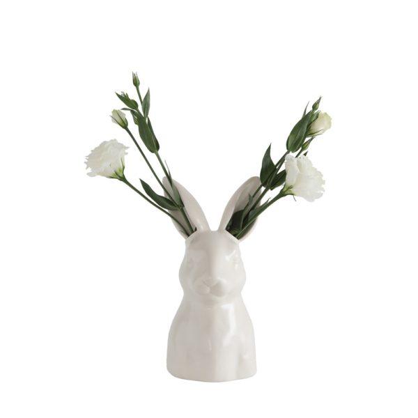 matte white rabbit vase