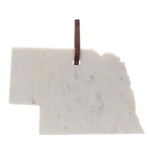 marble cutting in shape of Nebraska